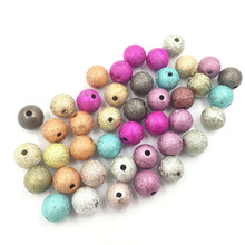50Pcs Mixed Colourful Spacer Beads Wrinkle Round Acrylic Fashion Jewelry DIY Findings Charms 10mm