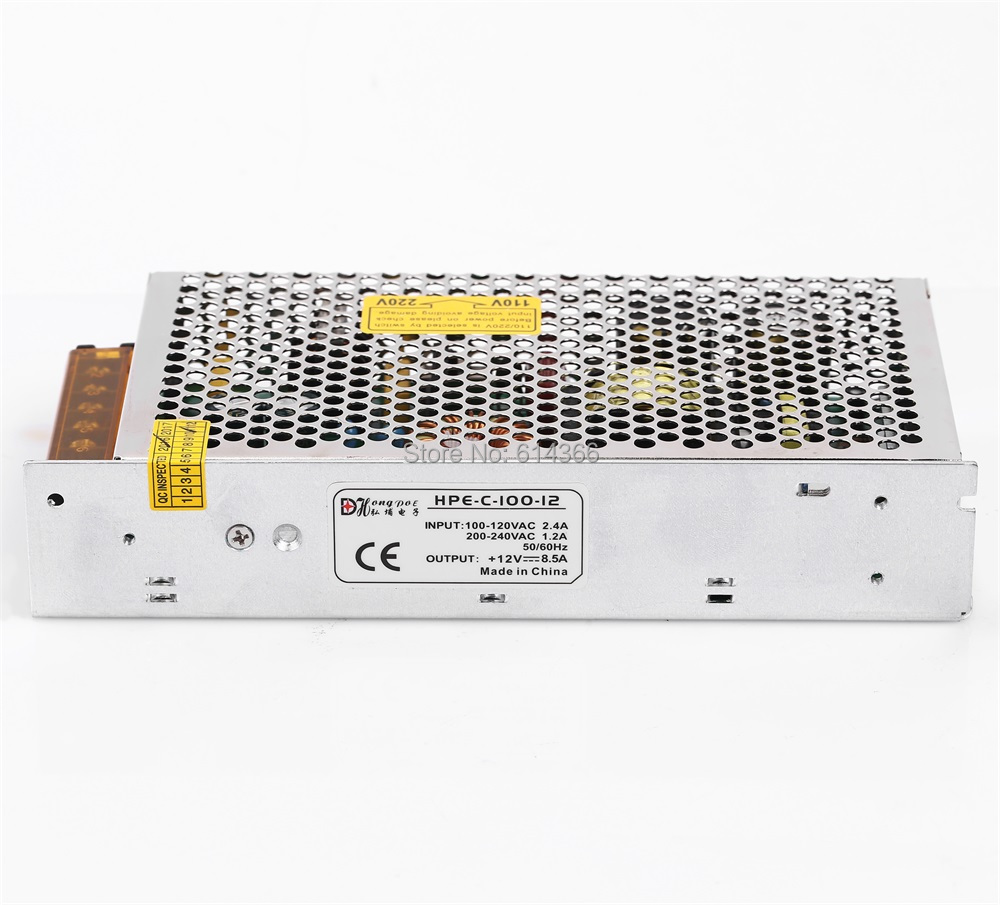 1PCS 100W 12V 8.5A Switching power supply input 100-240VAC for industrial control AC to DC power suply 12V 100w power supply best quality 12v 15a 180w switching power supply driver for led strip ac 100 240v input to dc 12v