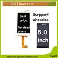 Seguimiento no aaa + + + calidad 1 unids para huawei p7 pantalla lcd completo + touch screen asamblea del digitizador para huawei ascend p7