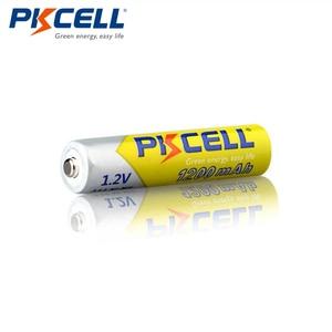 Image 5 - 4 個pkcell 1.2v 1200 1350mah aaaのバッテリーニッケル水素aaa充電式電池と 1pcバッテリー用懐中電灯おもちゃマイク
