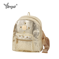 YBYT Brand 2017 New Casual Women Rivets Rucksack Preppy Style Girls Small Bookbags Female Shopping Bags