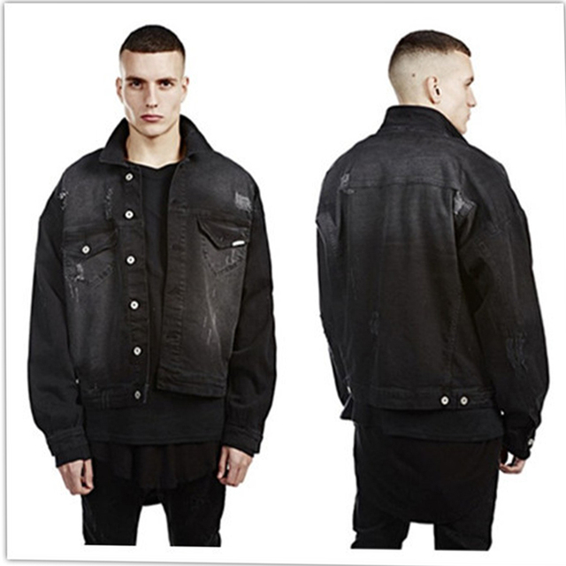 Black denim jacket for sale