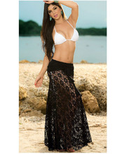 Beach Tunics for Women Bathing Suit Cover Ups 2 To Wear Lace Openwork Sexy Halter Dress Skirt Dress openwork lace cover up dress
