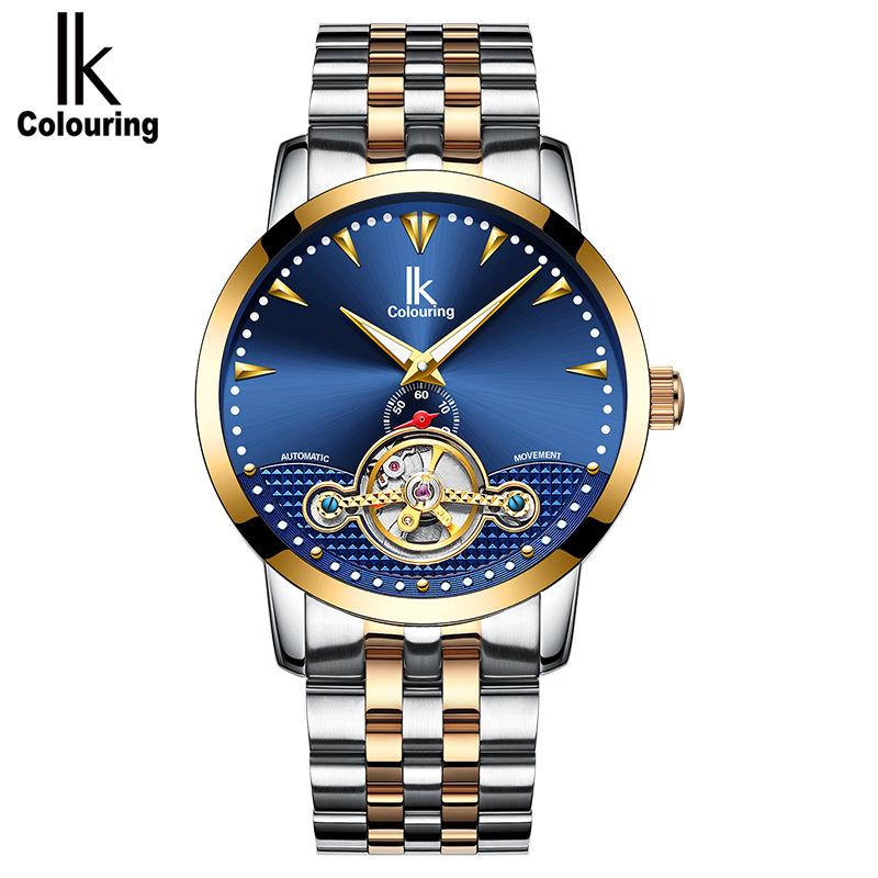 2018 Business Flywheel 30M Waterproof Automatic Watch Men Mechanical Tourbillon IK COLOURING Self Winding Luminous Wrist Watches цена