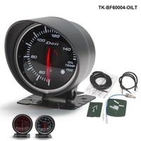 60mm DF BF 자동 오일 온도 측정기 머스탱 GT V8 용 빨간색과 흰색 빛 05-10 TK-BF60004-OILT
