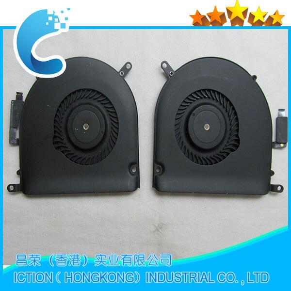 цены на 10pcs/lot Original New CPU Cooling Fan Right +Left Cooler for Macbook Pro Retina 15 A1398 Fan 2013 2014 2015 Year Full Tested!