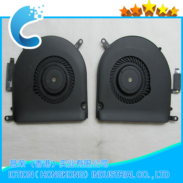 Laptop Original New CPU Cooling Fan  Right +Left Cooler for Macbook Pro Retina 15 A1398 Fan 2013 2014 2015 Year Full Tested! original 15 a1398 lcd screen display 2012 2013 2014 for macbook pro retina 15 4 a1398 lcd panel lp154wt1 sjav replacement