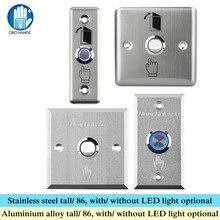 OBO mains, interrupteur de sortie de porte en métal en acier inoxydable, en alliage lumière LED 86, pour système de contrôle daccès domestique