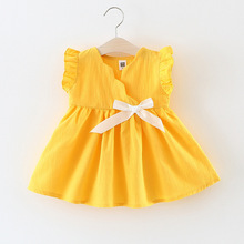 2018 New Summer Baby Girl Dress Princess Girls Birthday Party Dresses Infant Toddler Clothes Vestido Baby Girls Clothing 1-3Y summer baby girls dress infant floral bow sleeveless toddler girls birthday party dresses baby clothing vestido infantil