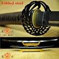 Handgeschmiedet Gefaltetem Stahl Japanischen Samurai schwert Katana Scharfe Klinge Full Tang-in Schwerter aus Heim und Garten bei
