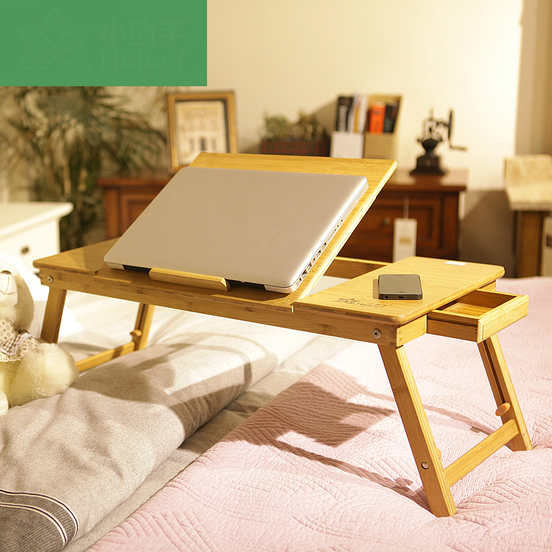 Special bamboo board simple adjustable desk home modern simple folding lazy laptop desk bed with a small table