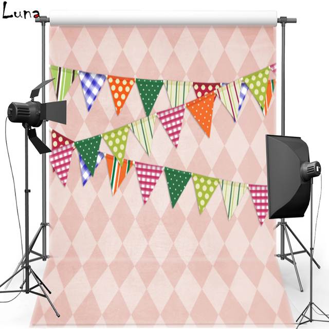 Colorful Flag Vinyl Photography Background For Party WallPaper Oxford Backdrop Children Photo Studio Props 144