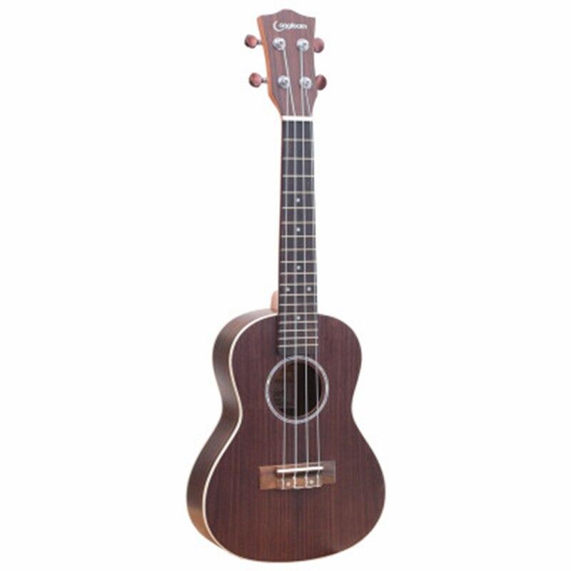 Abgz-longteam 23 pouces guitare ukulélé en palissandre mat ukulélé hawaïen Mini guitare