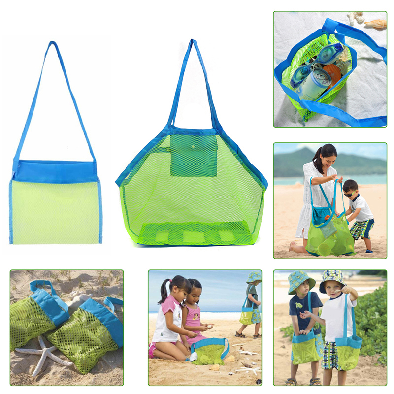Sand Away Mesh Bag for Beach Toys Children Toys Clothes Towel Orgnizer Treasured Object Beach Collection Storage Bags