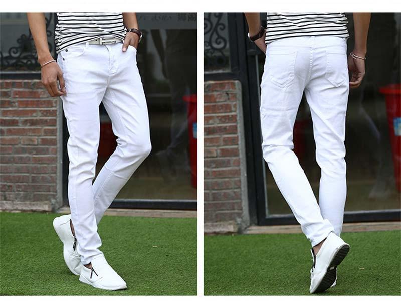 Mcikkny Fashion Men\`s Denim Jeans Pants Slim Fit Casual Denim Trousers Fashion Designer Biker Stretch Jean Joggers For Male (7)