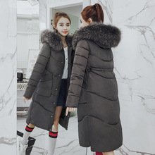 Cold-resistant warm Raccoon Fur big fur collar down jacket for women winter long slim fit fashion waist thick cotton coat стоимость