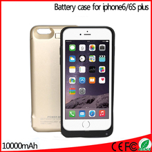 On sale 10000mAH External Backup Battery Powerbanks Mobile Cover Charger shell for iPhone 6 plus/6s plus 5.5inch Freeshipping