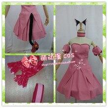 Tokyo Mew Mew Ichigo (Transfiguration) Momomiya Cosplay Costume with gloves and hair accessory