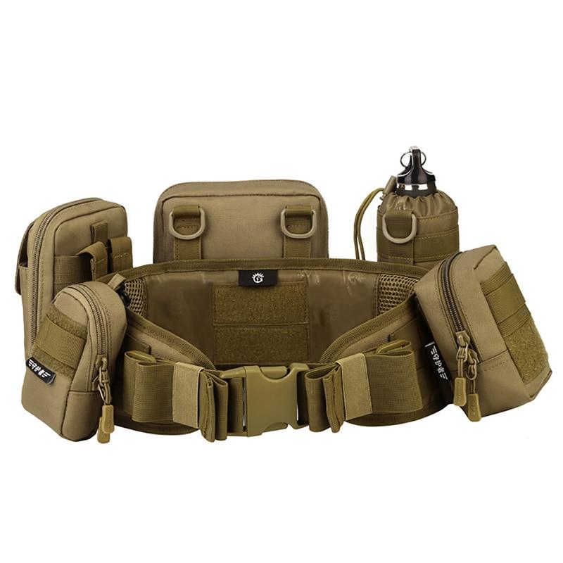 Erkekler Ordu Askeri Avcılık Aksesuarları MOLLE Kuşak Taktik bel kemeri Yastıklı CS Kemer Çok Kullanımlı Ekipmanları Airsoft Geniş Kemerler title=