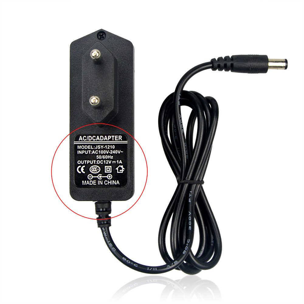 100-240 В AC к DC Питание Зарядное устройство Трансформатор Адаптер 12 В 1A 2A 3A 5A 6A 8A США ЕС Разъем 5,5 мм x 2,5 мм для Светодиодные ленты свет