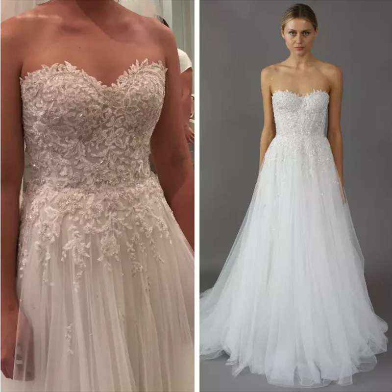 Buy 2017 a line wedding dresses for Wedding dress appliques suppliers