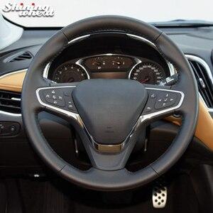 BANNIS черный кожаный чехол рулевого колеса автомобиля для Chevrolet Malibu XL 2016 2017 Equinox 2017