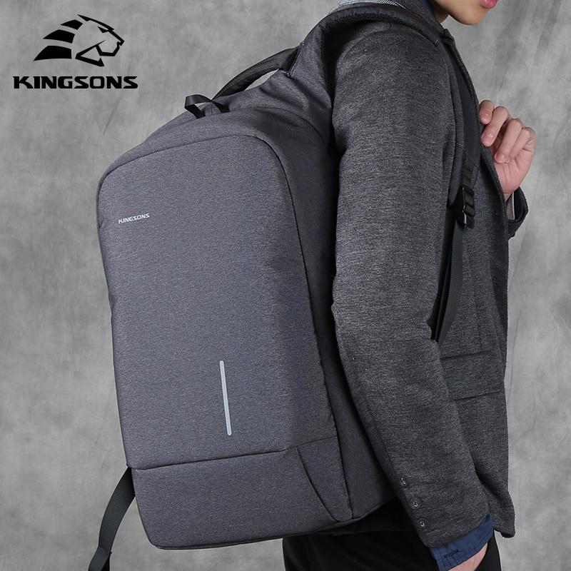 Kingsons Anti Thief Usb Bagpack 15.6 Inch Laptop Backpack Women Men Backpack Shoulder Bag For Teens Male Travel Mochila 2019