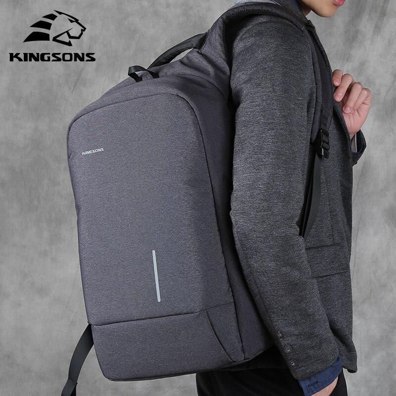 Kingsons Anti voleur USB bagpack 15.6 pouce Ordinateur Portable Sac À Dos Femmes Hommes sac à dos Sac À Bandoulière pour les adolescents Mâle Voyage Mochila 2019