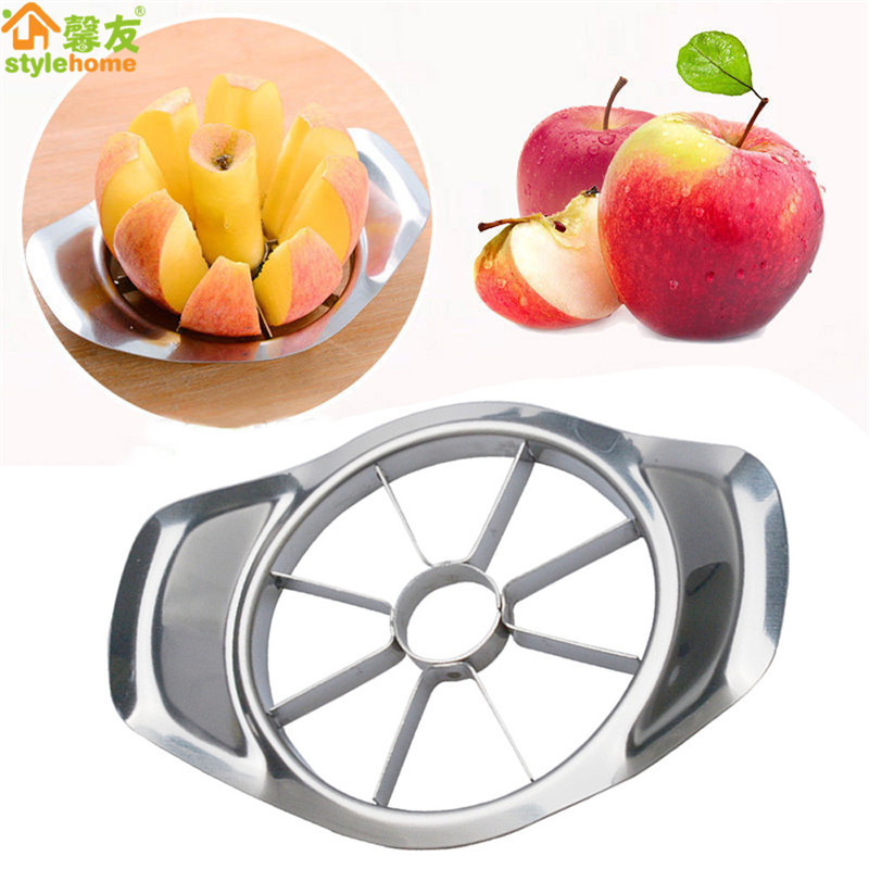 Kitchen Gadgets Stainless Steel Apple Cutter Slicer Vegetable Fruit Tools Kitchen Accessories  Apple Easy Cut Slicer Cutter(China)