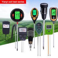 Yieryi 2019 Новый Влагомер почвы фертильности тестер измерения PH почвы влажность Солнечный свет Температура и влажность 5 в 1/4 в 1/3 in1/2in1