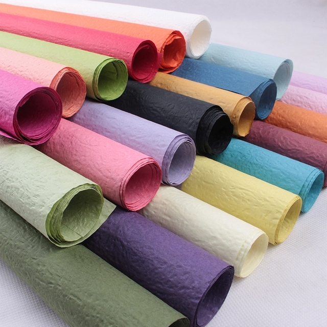 40PCS 63 63cm Colored Crepe Paper Flower Wrapping Paper Supplies