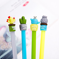 50pcs South Korean Style Cute Puzzles Korean Student Creative Black Ink Cute Gift Gel Pen Wholesale Stationeries Botany Pen