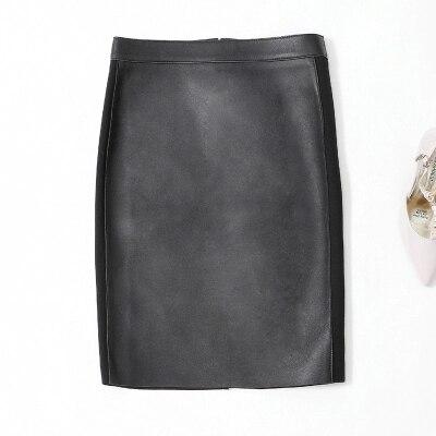 Jupe en cuir femme longue jupe Slim
