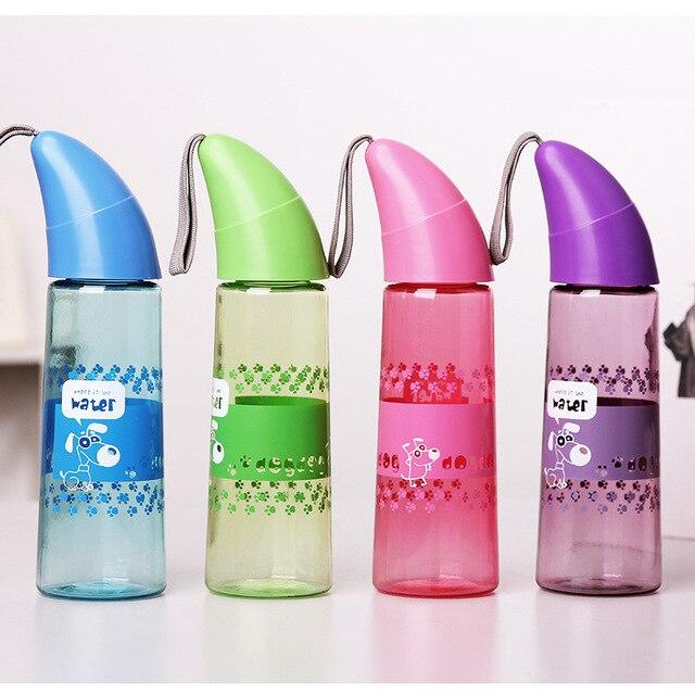 e5938f17db 400 ML Kreatywny Przenośny Sportowy Bidon Mój Plastikowe Butelki szczelny  Róg Dzieci Biegnące Podróży Butelka Na