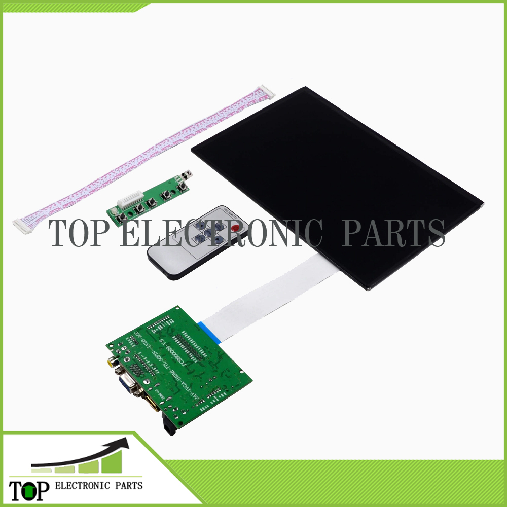 10.1 Inch 40 pin 1280(RGB)*800 TFT EJ101IA-01G LCD Screen Display With Remote Driver Control Board 2AV HDMI VGA for Raspberry Pi