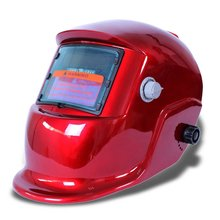 Welding mask Welding helmet Solar energy automatic (solar energy use for refill) Facial protection accessories red