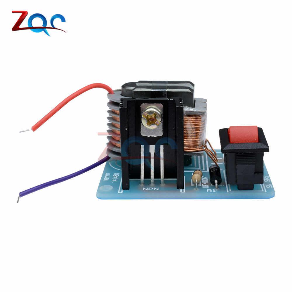 15KV عالية التردد DC عالية الجهد الاشتعال قوس عاكس المولد دفعة تصعيد 18650 DIY عدة يو محول بقلب حديدي عالي الجهد جناح 3.7 V