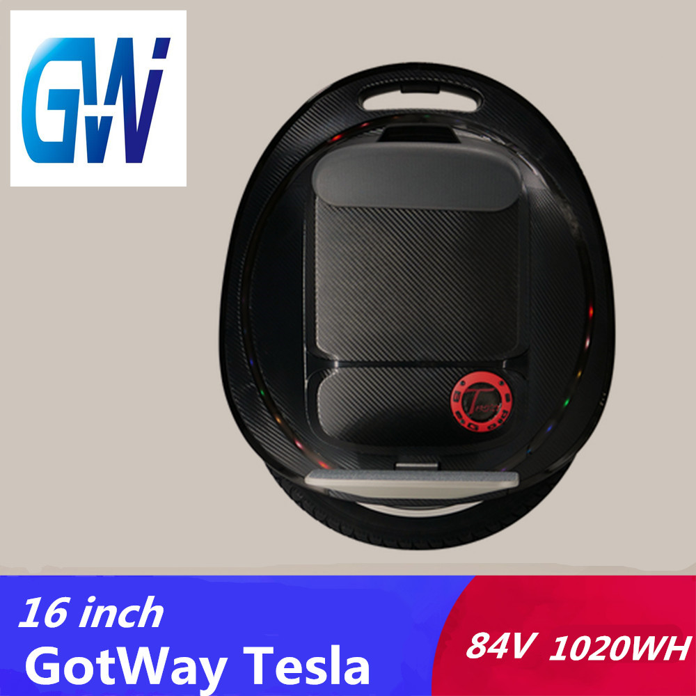 2019 Gotway Tesla 2 16inch electric unicycle 1020WH 2000W motor With Bluetooth speaker Handle anti-aircraft hoverboard
