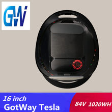 Favor 2019 Gotway Tesla 2 16inch electric unicycle 1020WH 2000W motor With Bluetooth speaker Handle anti-aircraft hoverboard dispense