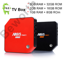 Android 6.0 Smart TV Box 3GB 32GB M8S Plus II Amlogic S912 Octa Core Mini PC 1G 8G 4K H.265 Media Player Home Movie Bluetooth