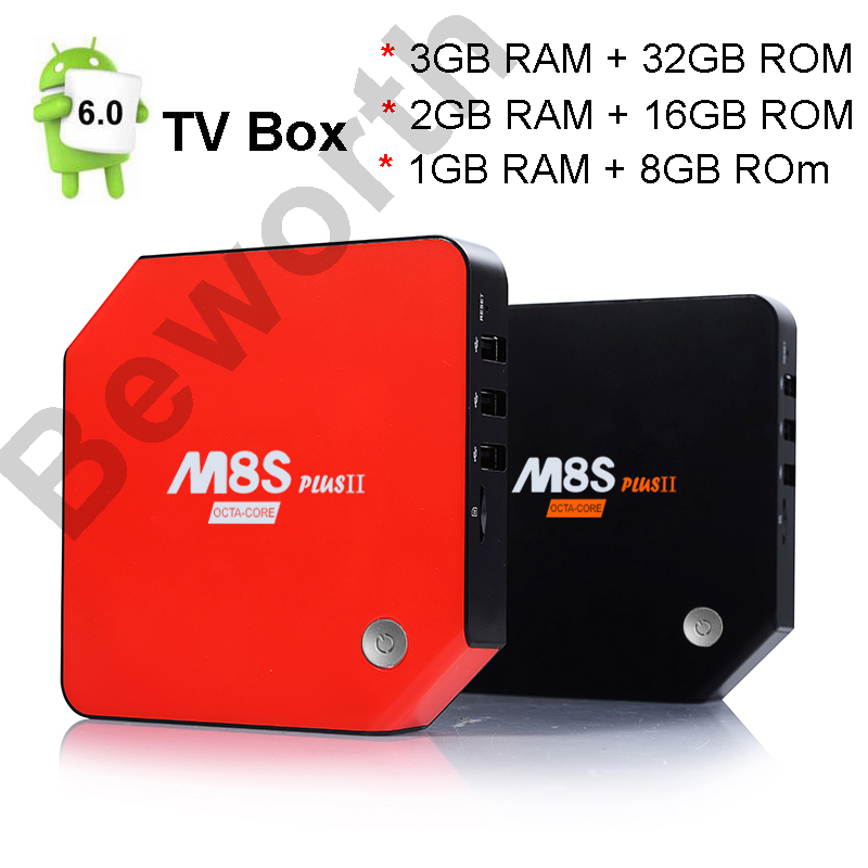 Android 7.1 Smart TV Box 3GB 32GB M8S Plus II Amlogic S912 Octa Core Mini PC 1G 8G 4K H.265 Media Player Home Movie Bluetooth