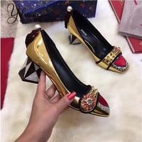 YIFSION/Новинка; модные женские туфли лодочки; сезон весна лето; женские туфли лодочки на Высоком толстом каблуке с квадратным носком; женская о