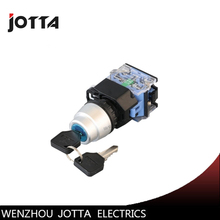 LA38-20Y/33  3 position key-lock momentary  push button switch цена