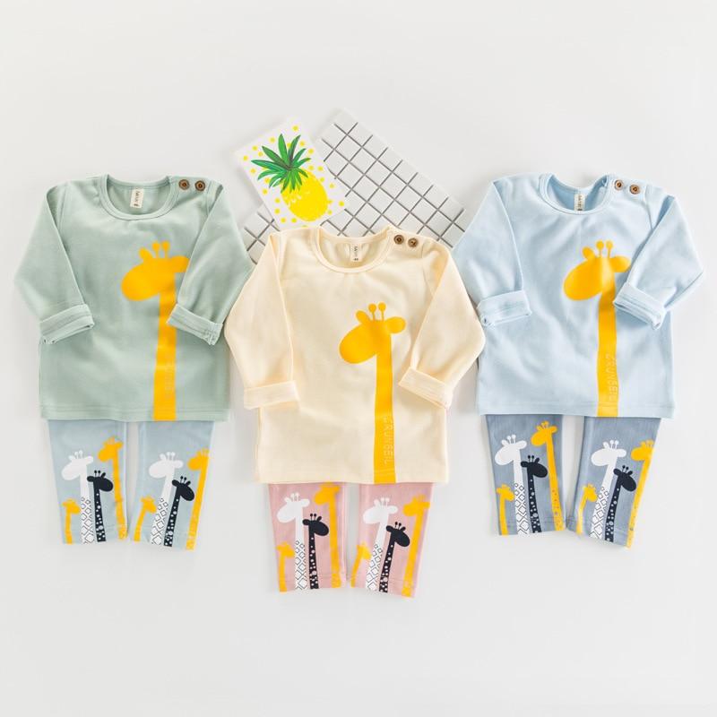 Kids Pijamas Sleepwear Boys Pyjamas Kids Pajamas Sets 80-120cm Kids Clothes Nightwear Homewear Toddler Clothes Garcon Suits