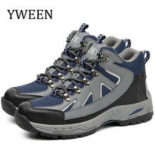 YWEEN Steel Toe Mens Safety Work Boots Winter Outdoor Men Anti-piercing Protective Shoes Foot Protection Plus Size Boot