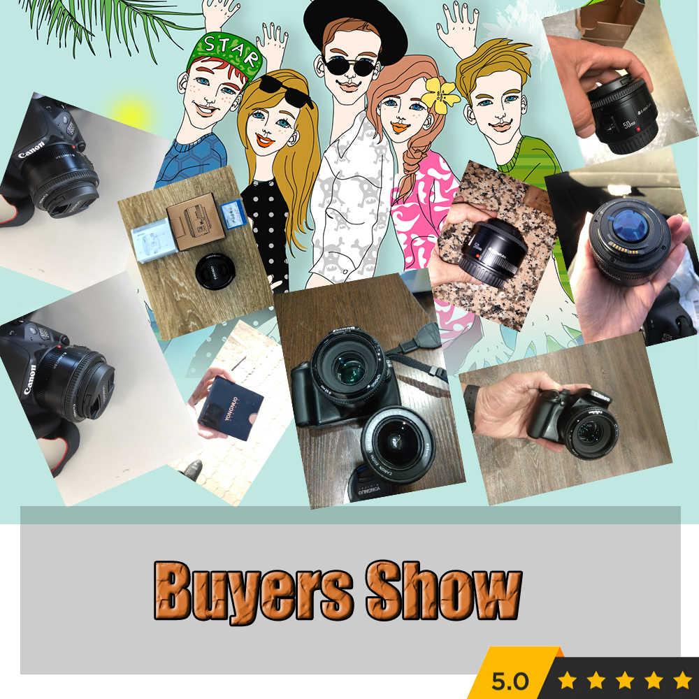 YONGNUO YN50mm f1.8 YN EF 50mm f/1.8 obiektywu AF YN50 przysłony automatyczne ustawianie ostrości obiektyw do modeli Canon EOS 60D 70D 5D2 5D3 600d Canon lustrzanki cyfrowe