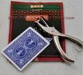 Perforadora de tarjetas/Móvil Tarjeta Del Agujero Hollow Transferencia Truco de Magia con el Sacador Move + perforadora/trucos de magia/magic accesorios/El Envío libre