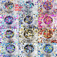 TCT 004 Mix Colors Dot shapes round Glitter for nail art ,nail gel,makeup and DIY decoration Packing by poly bags