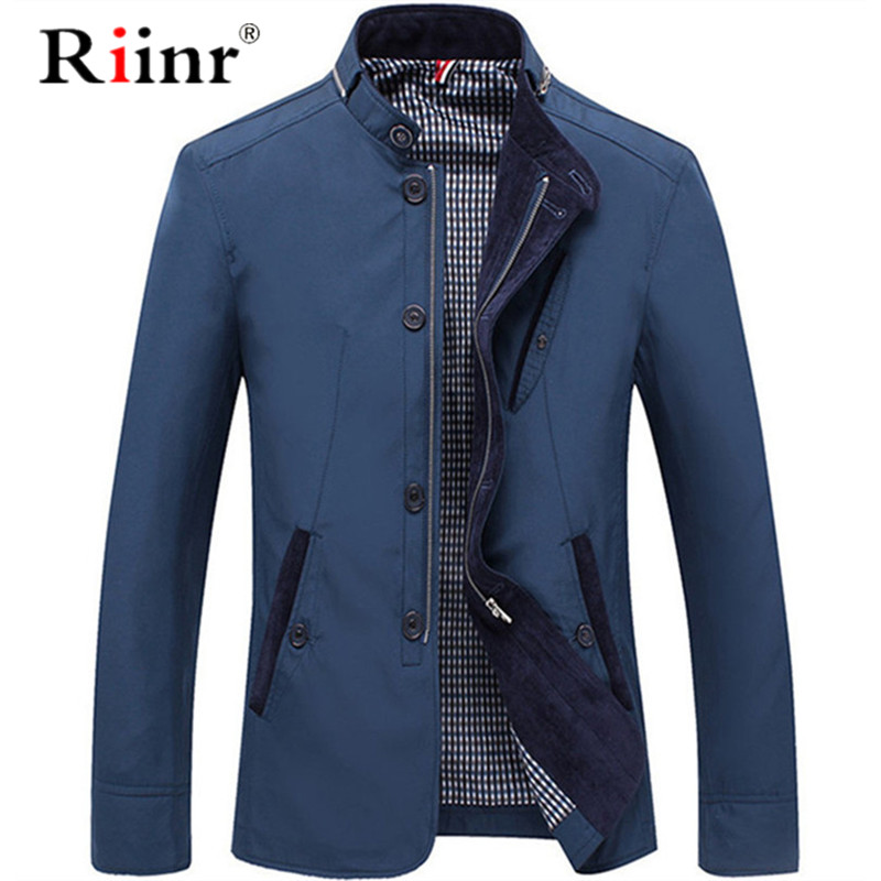 2019 Men's Jacket High Quality Fashion Street Jackets Slim Fit Casual Streetwear Vintage Mens Clothing Spring Autumn Outwear
