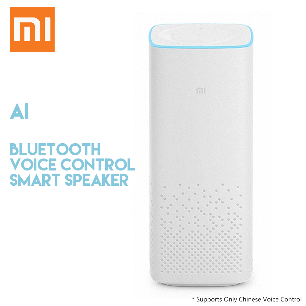 Original Xiaomi AI Bluetooth Smart Speaker with Voice Control Music Player Support Mijia Smart Home Control original xiaomi mi speaker mini 2 4g wifi voice smart speaker wireless portable speaker bluetooth 4 1 with 4 mic of smart home